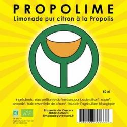 PROPOLIME : Limonade bio Pur Citron à la Propolis
