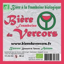 Bière du Vercors bio à la Framboise