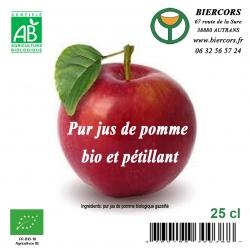 Pur Jus de pomme bio et pétillant