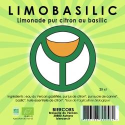LIMOBASILIC : Limonade bio pur citron au Basilic