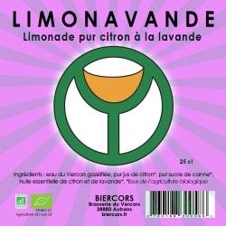 LIMONAVANDE : Limonade bio pur citron à la Lavande