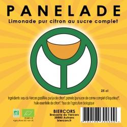 PANELADE : Limonade bio pur citron au sucre complet d'équateur