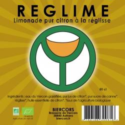 REGLIME : Limonade bio pur citron à la réglisse